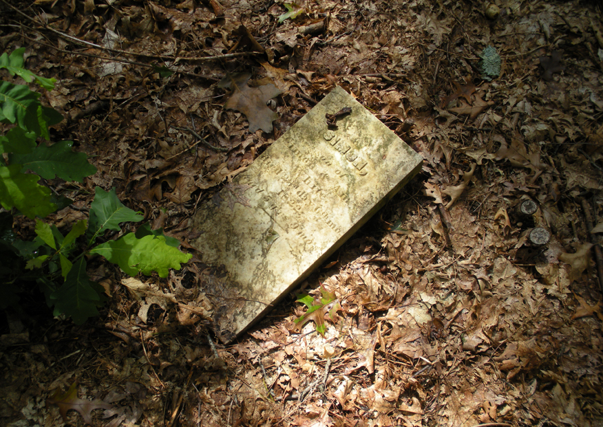 Closeup of a fallen 5-year-old's grave