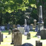 Walking through the headstones