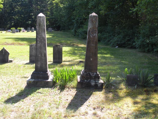 2 smaller obelisks