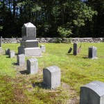 Fairfield Family Plot, note large stone with smaller ones in front