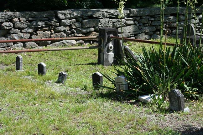 Some tiny headstones