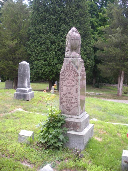 A decorated obelisk for the Jillsons