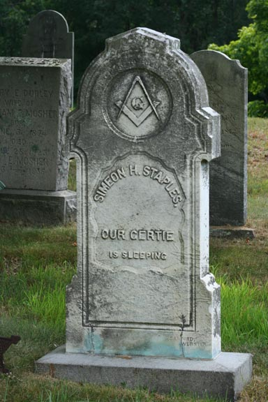 Another look at 'Our Gertie', note the age marks on the stone