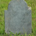 Tiny headstone for a four-month-old baby