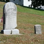 2 headstones note more bottom decay