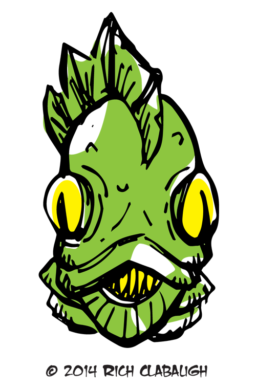 1010-Monster-Face-Gill-Man