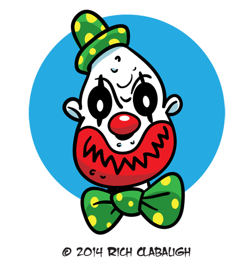 1012-CLOWN--MONSTER-FACES-