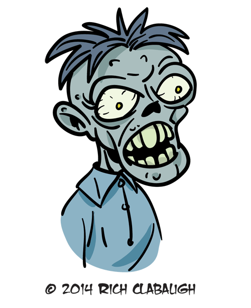 1019-Bug-Eyed Zombie--MONSTER-FACES-