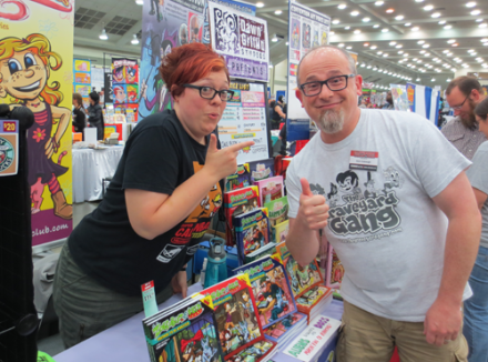 Me and the amazing Dawn Griffin! She just wrapped up her long-running webcomic Zorphbert and Fred! Check out her work at http://dawngriffinstudios.com/