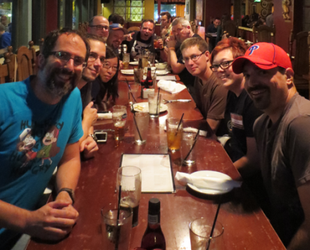 This a was fun Friday Night get-together with a bunch of talented comic creators! I'm in there somewhere!