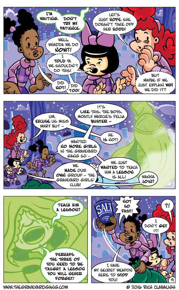 The Graveyard Girls' Club – Don't Mess With Midnight Mary pg.9
